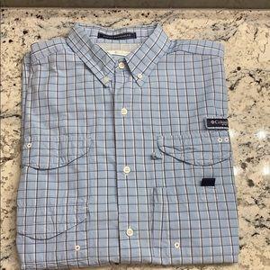 Columbia Super Bone Shirt Size L EUC